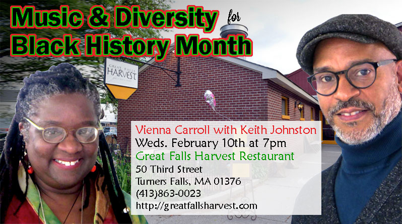 Vienna Carroll with Keith Johnston at Great Falls Harvest Restaurant