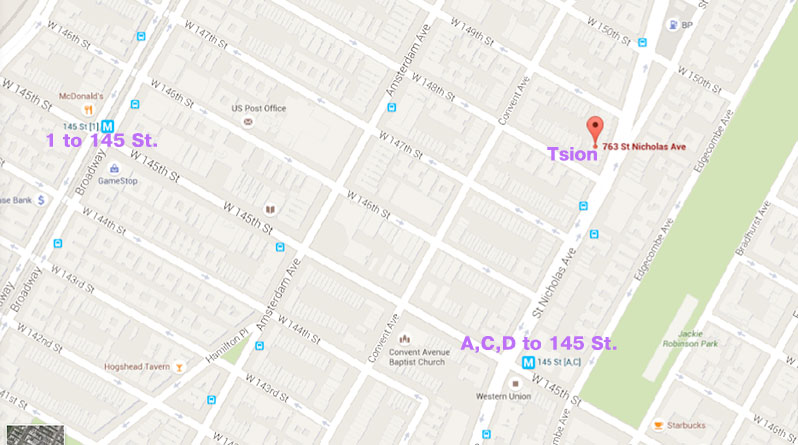 Directions to Tsion Cafe