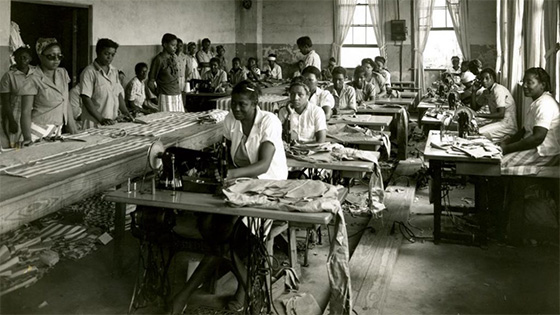 Parchman Farm (MS Penitentiarary) Black Female Prisoners Sewing @ 1935