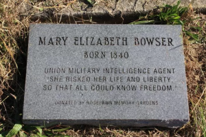 Mary Elizabeth Bowser, Union Spy, headstone