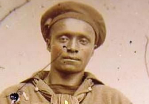 African American sailor in Union uniform
