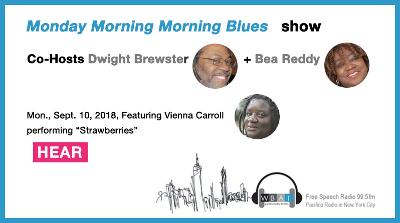 Vienna Carroll performs on Monday Morning Blues Show