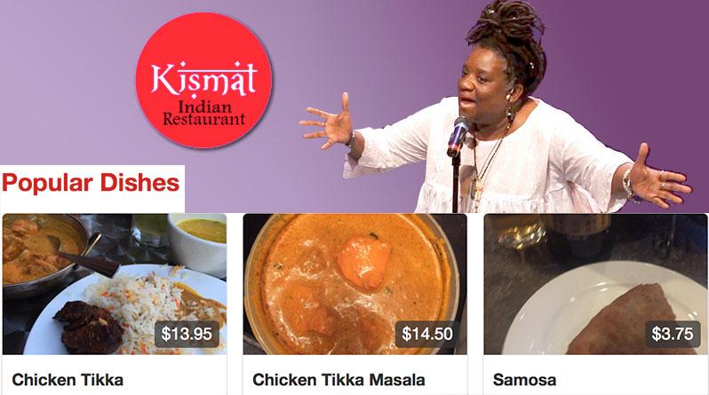 Vienna Carroll at Kismet Indian Restaurant